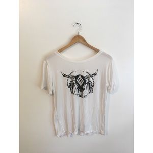 flowy graphic t shirt